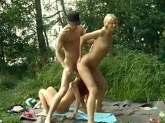 Threesome outdoor