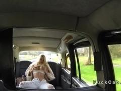 Beautiful British amateur bangs in fake taxi