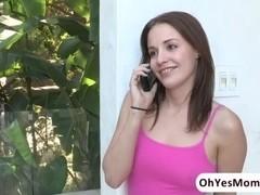 Teen Kennedy Leigh consults sex expert MILF Cherry Deville