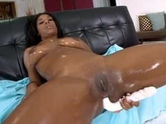 Ass and pussy are drilled
