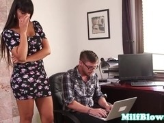 Bigtitted housewife cocksucks to keep ###
