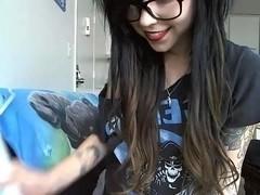 Emo immature masturbates on webcam