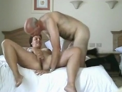 Grandpa fucks grandma in their hotelroom on vacation