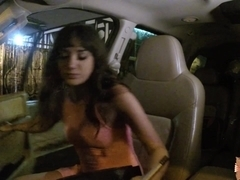 Gia Paige fucked from behind in the car