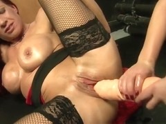 Mature porn video featuring Wendy Taylor and Faye Rampton