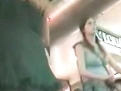 A hot ass in a thong on an upskirt video