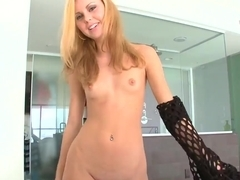 Jessie Rogers shows off her ass in sexy fishnets suits