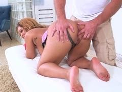 Slamming busty beauty Mandy Rivers