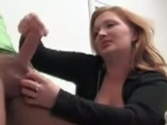 German domme handjob ruined orgasism