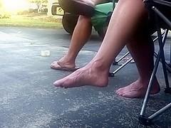 Friends woman barefoot