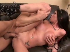 Sexy tattooed Raven Bay shows why she's a hot blowjob queen and fucker
