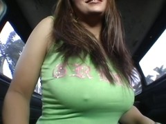 Beautiful big tits on the BangBus