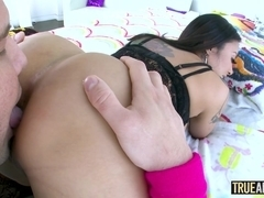 TRUE ANAL Busty Asian Kaylani Lei has her ass pounded