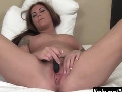 Busty Babe Bella Masturbating Her Pussy
