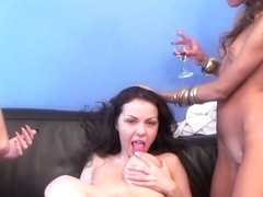 Girls call black stripper to lesbian party