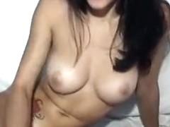 Brunette Deea masturbating on webcam
