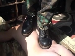 Back and head stomp with my CAT boots
