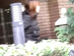 Asian babe in loose fitting pants gets street sharked.