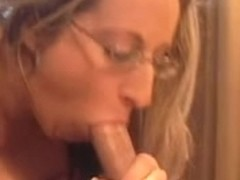 Large Titted Four Eyed Slit Kitty Rides And Slurps