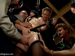 The Last Laugh: Audience Of 70 Humiliates Juliette March, Giggling Tight Bodied Whore - PublicDisg.