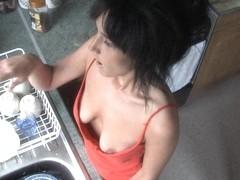 Nude female bodybuilder muscle woman