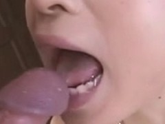 Lascivious mother I'd like to fuck in dark stockings on her knees sucking wang