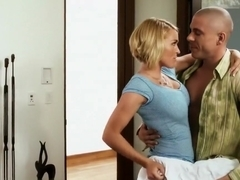 Busty Blonde loves big dick