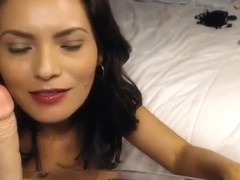 Huge Tits Latina Dildo Masturbation