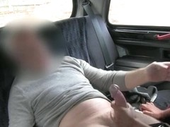 Large juggs non-professional floozy oral sex sex in the backseat in public