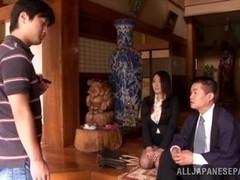 Mika Nanase naughty Asian milf likes sucking cock