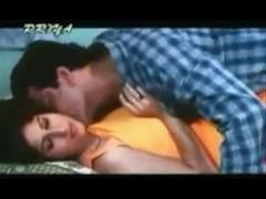 Vintage porn shows a busty Indian slut making out
