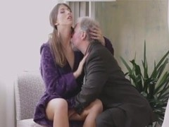 Young Lady Loves Getting Fucked By Old Man