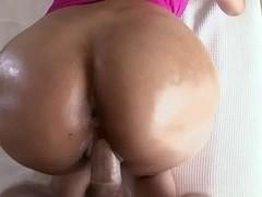 Busty Latina hoe enjoys a stiff white dick