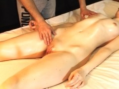 Slender Blonde Cums In Convulsions From Hot Massage