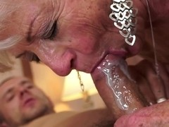 Cum into the face hole of mothers and grandmoters