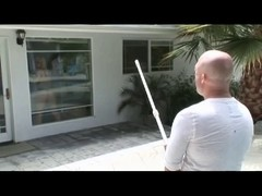Golden-Haired Housewife Bonks with Pool Cleaner