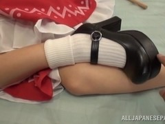 Lustful teen in sexy costume Yuuki Itano likes hardcore