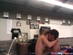 Students fuck in classroom after hours