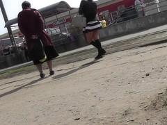 Surprising free upskirt footage with plump girlfriend