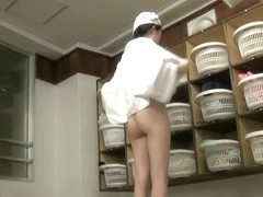 Changing room girls showing their oriental booties pks14