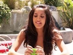 Horny pornstar in Crazy Brunette, Cunnilingus sex video