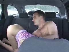 Tit voyeur taxi scenes filled with bj and hard fuck