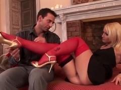 Kathia Nobili's lets the guy enjoy her feet