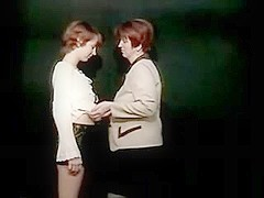 Old & youthful lesbian amateur performance