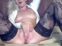 Mature Lana39 jumping on a dildo