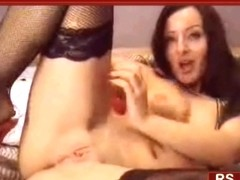 Webcam show with dildo in ass