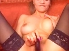 Amateur in sexy lingerie play time