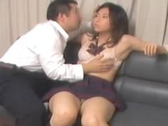 Japanese babe enjoys a yummy pecker on a spy cam