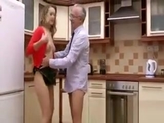 Young euro slut gives brain to old sir