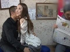 Hot milf Misuzu Takashima masturbates in a public place